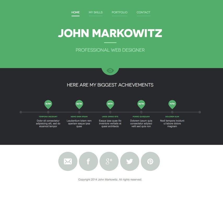 Web Developer Portfolio Templates Free John Markowitz Responsive Portfolio Website Template
