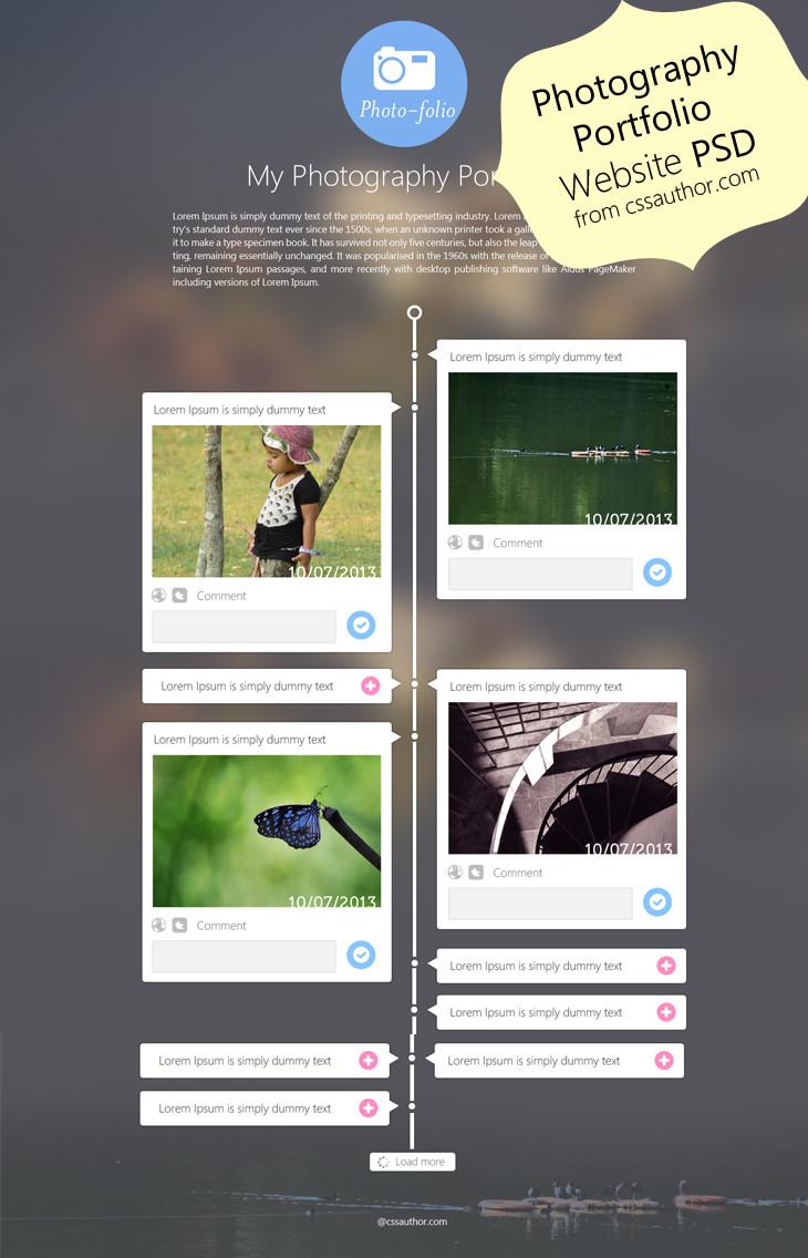 Web Developer Portfolio Templates Graphy Portfolio Website Template Design Psd From Css