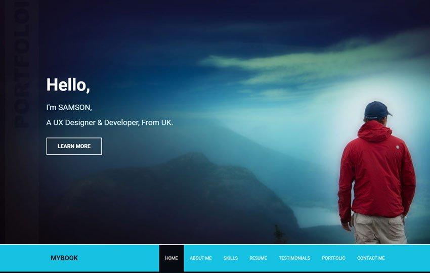 Web Developer Portfolio Templates Mybook Portfolio Responsive Bootstrap Free Web Template