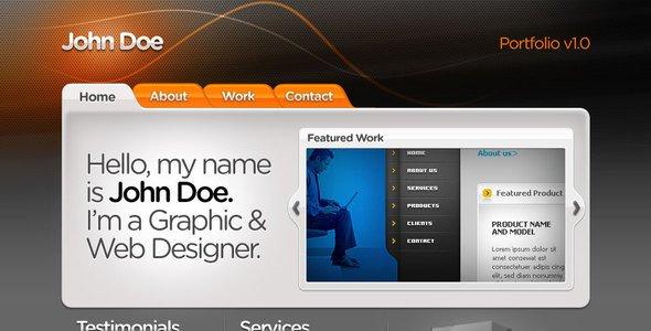 Web Developer Portfolio Templates Web Designer Portfolio HTML Css Psd by Kaisersosa