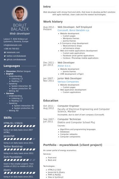 Web Developer Resume Sample Example Web Developer Resume