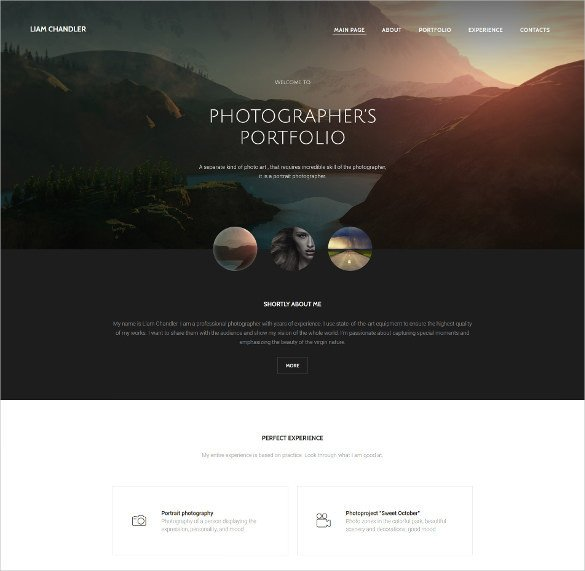 Web Template for Photographer 28 Graphy Website themes & Templates