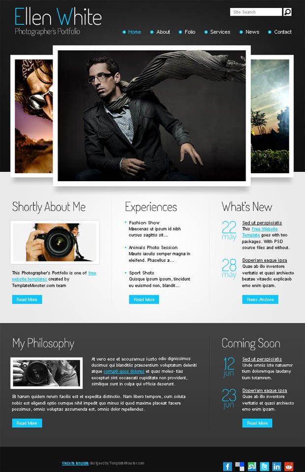 Web Template for Photographer 30 Free & Premium Graphy HTML Website Templates