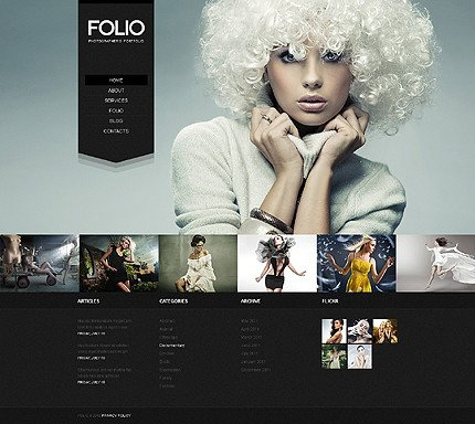 Web Template for Photographer Best 2012 Wordpress Website Templates