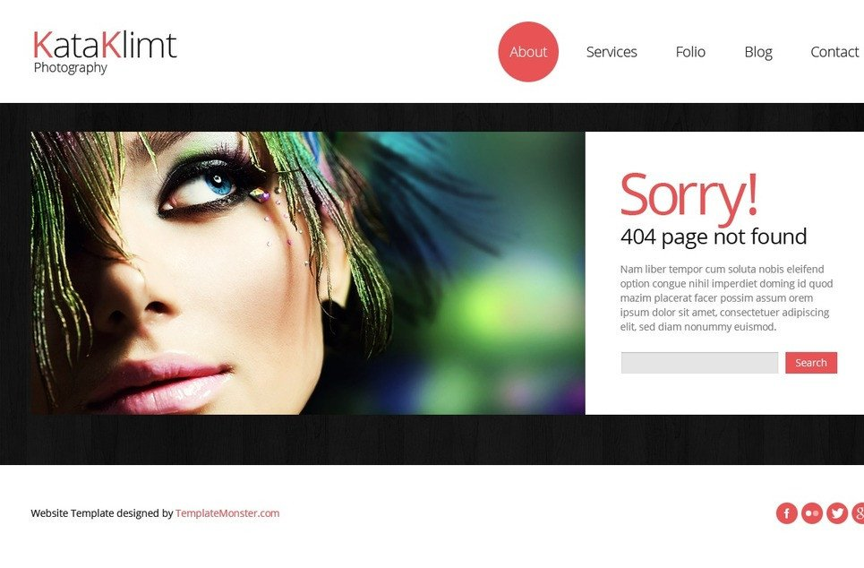 Web Template for Photographer Bootstrap Free Responsive Template Graphy