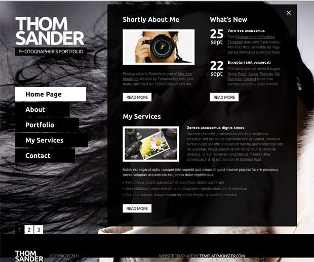 Web Template for Photographer Free Full Js Website Template Graphy Monsterpost