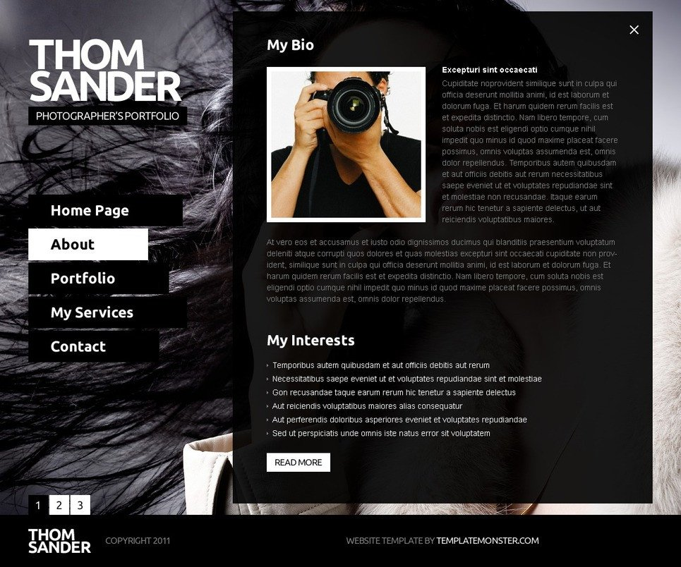 Web Template for Photographer Free Full Js Website Template Graphy