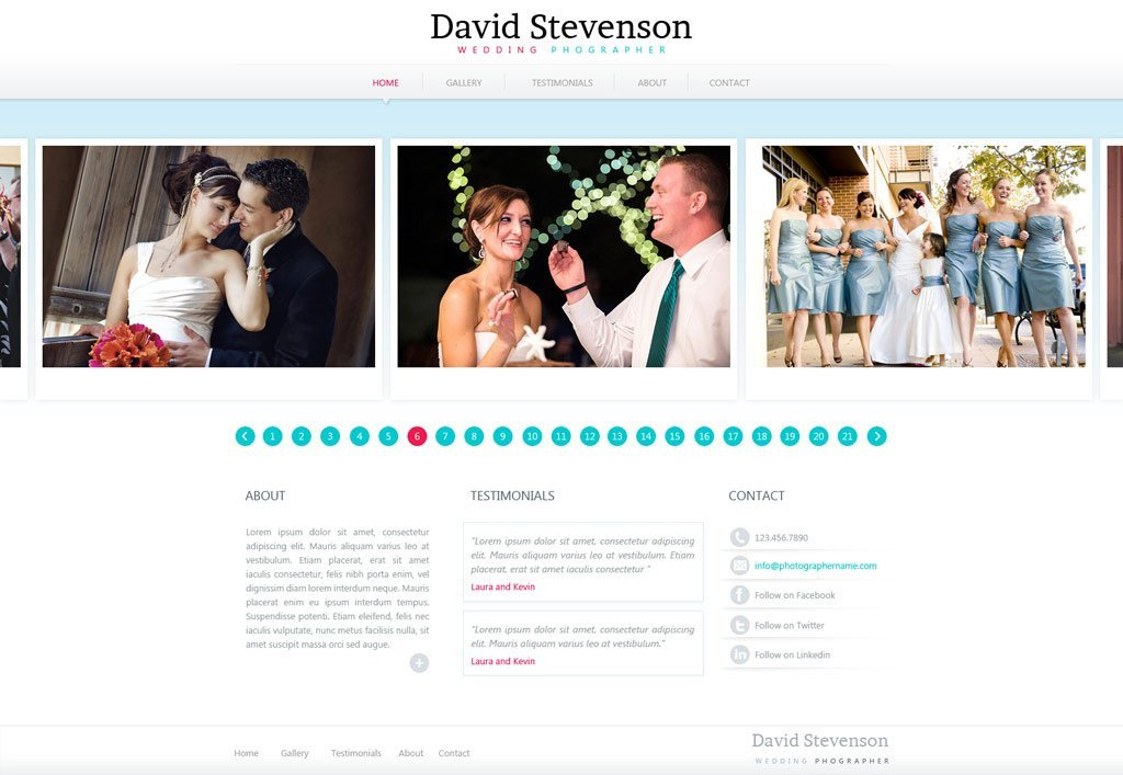 Web Template for Photographer Graphy Website Template