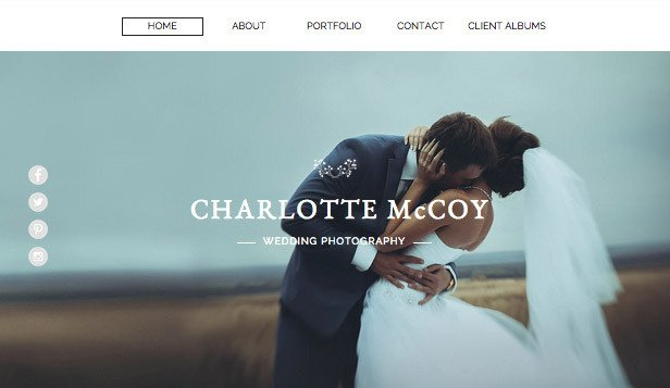 Web Template for Photographer Graphy Website Templates