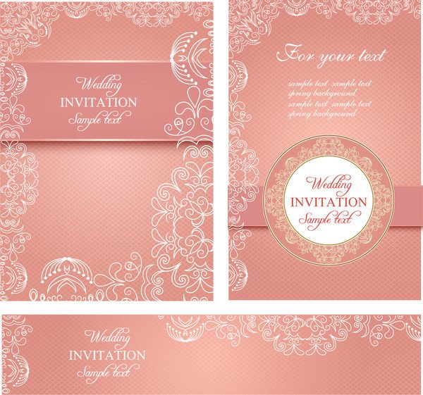 Wedding Card Template Free Download Editable Wedding Invitations Free Vector 3 767