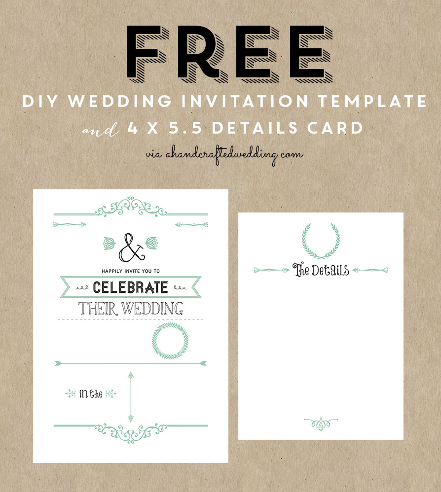 Wedding Card Template Free Download Free Printable Wedding Invitation Template