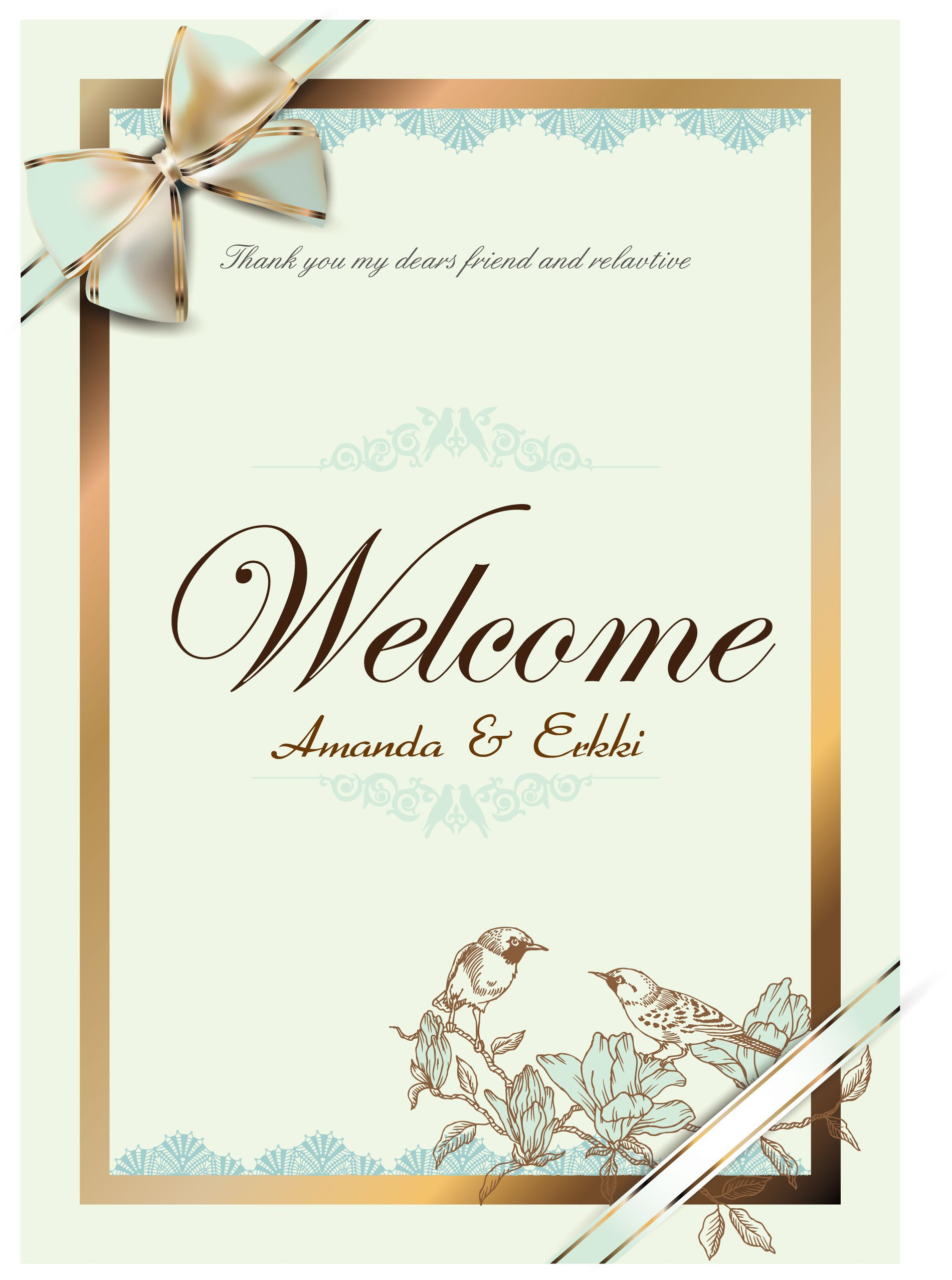 Wedding Card Template Free Download Free Vector About Wedding Card Vector