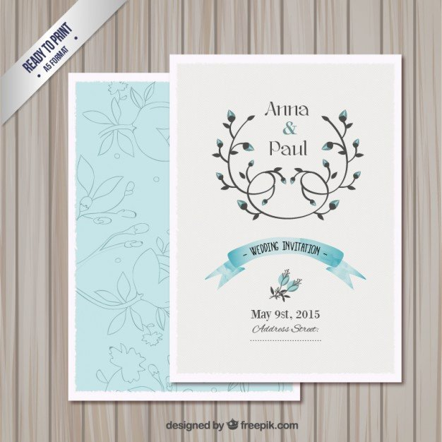 Wedding Card Template Free Download Wedding Invitation Card Template Vector
