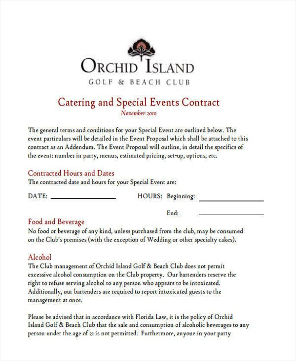 Wedding Catering Contract Template 5 Catering Proposal Template Examples In Word Pdf