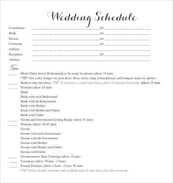 Wedding Day Schedule Templates 28 Wedding Schedule Templates & Samples Doc Pdf Psd
