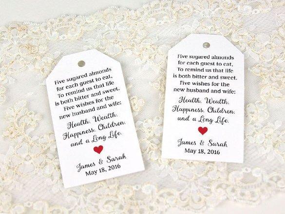 Wedding Favor Tags Template 26 Favor Tag Templates Psd Ai