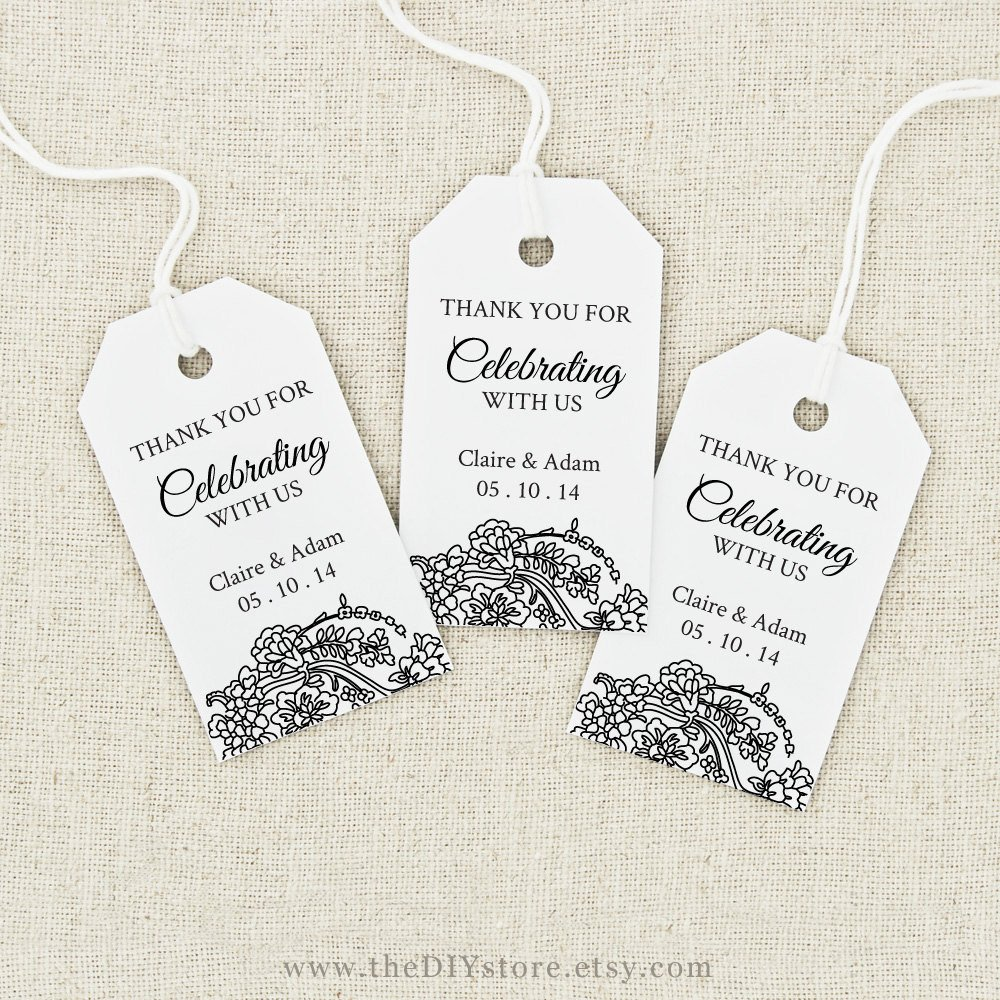 Wedding Favor Tags Template Favor Tag Printable Text Editable Medium Tag Size Wedding