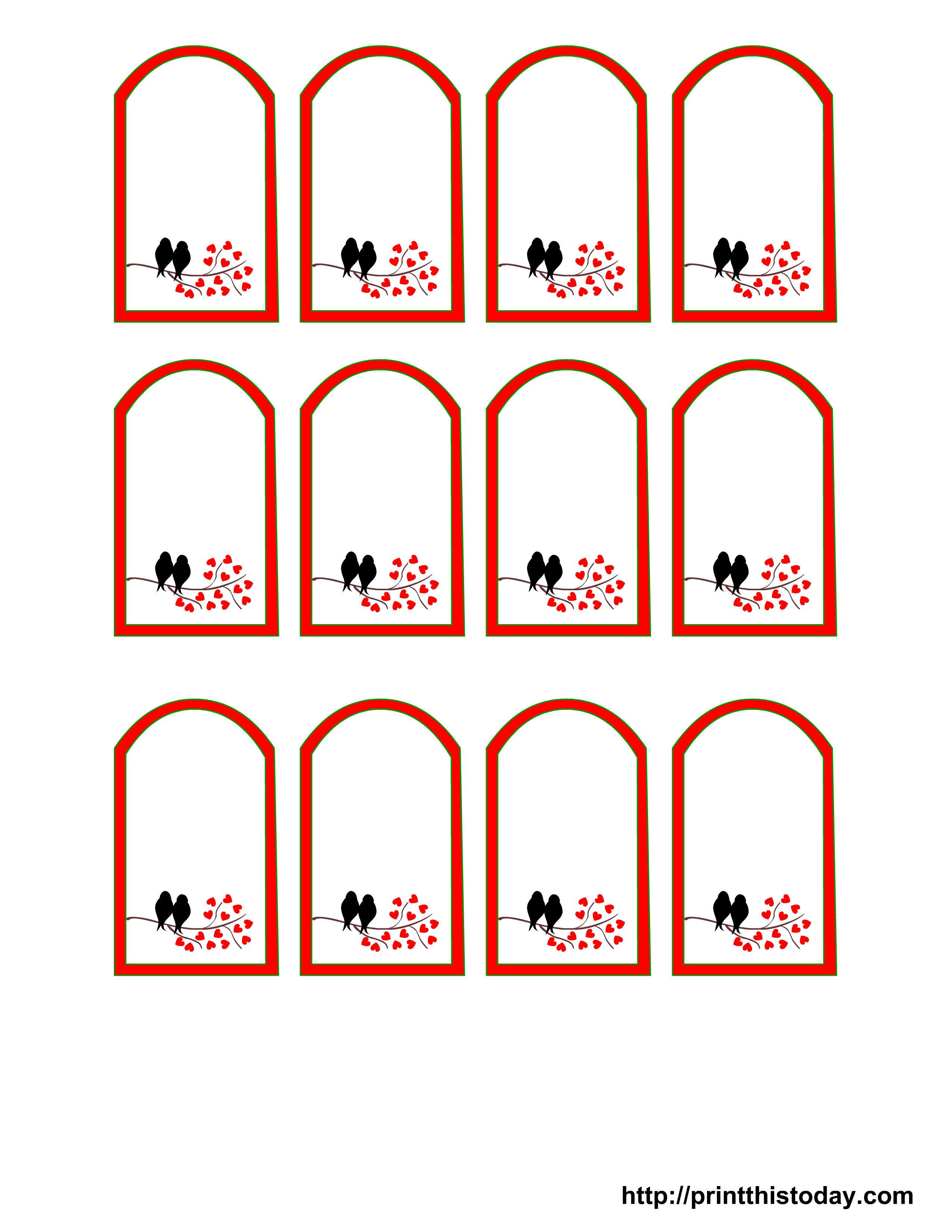 Wedding Favor Tags Template Free Printable Wedding Favor Tags