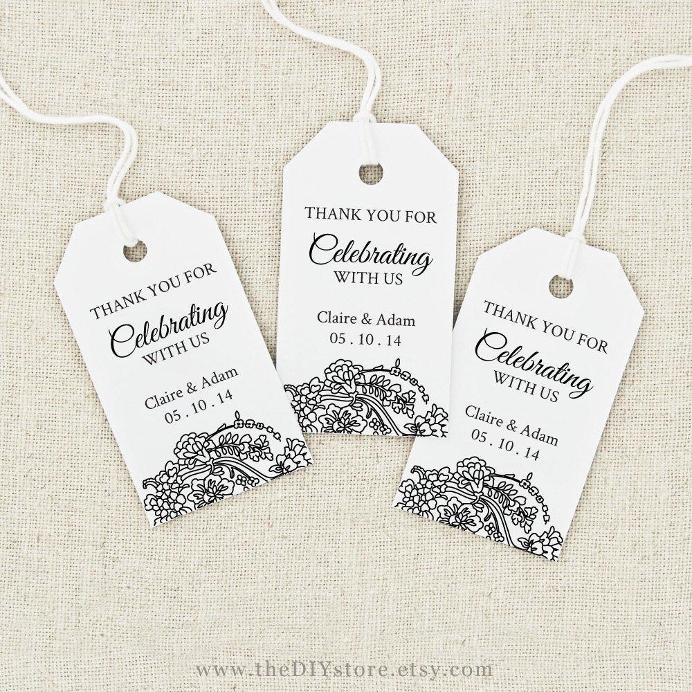Wedding Favor Tags Templates Favor Tag Printable Text Editable Medium Tag Size Wedding