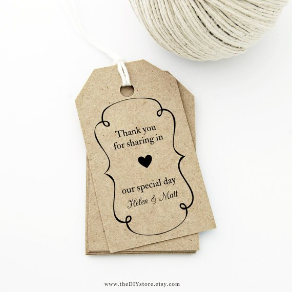 Wedding Favor Tags Templates Items Similar to Favor Tag Template Medium Swirly Frame