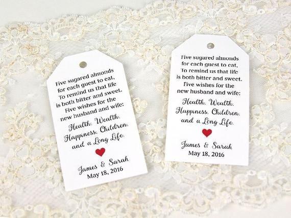 Wedding Favor Tags Templates Jordan Almonds Favor Tag Wedding Favor Tag Custom Tag