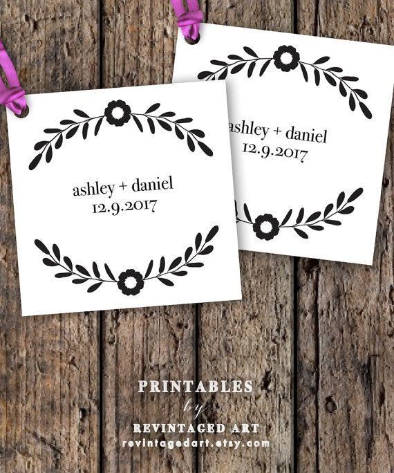 Wedding Favor Tags Templates Printable Wedding Favor Tag Template Editable by