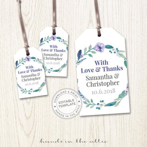 Wedding Favor Tags Templates Wedding Favor Tags Printable Mini Wedding Tags Thank You