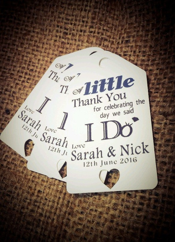 Wedding Favors Tags Template 26 Favor Tag Templates Psd Ai