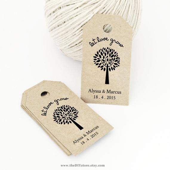 Wedding Favors Tags Template Items Similar to Let Love Grow Favor Tag Template Medium