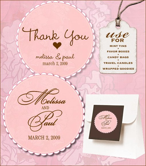 Wedding Favors Tags Template Sweet Retro Free Wedding Labels Download