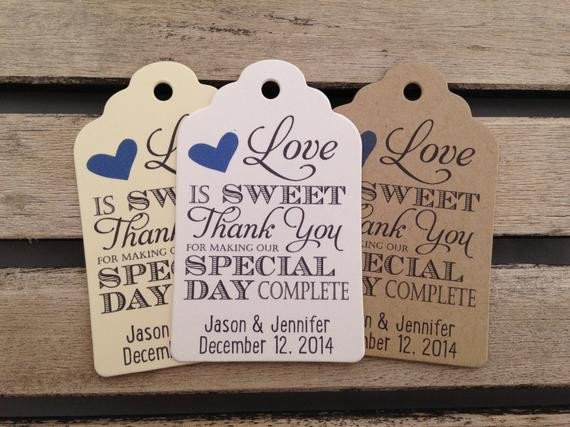 Wedding Favors Tags Template Wedding Gift Tags Love is Sweet Thank You for Making Our Day