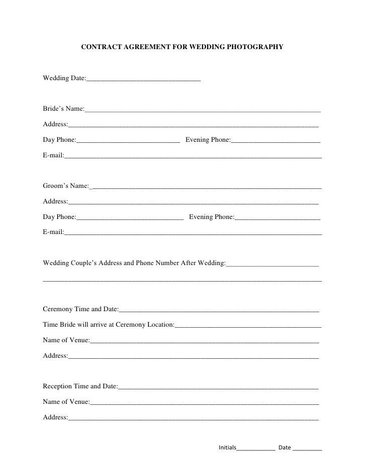 Wedding Florist Contract Template Best 25 Graphy Contract Ideas On Pinterest