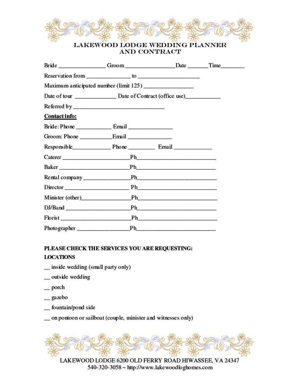 Wedding Florist Contract Template Wedding Florist Contract Template Sampletemplatess