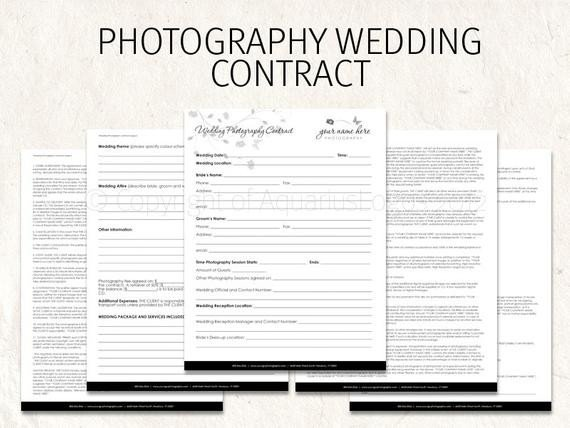 Wedding Florist Contract Template Wedding Graphy Contract Business forms butterfly Flowers