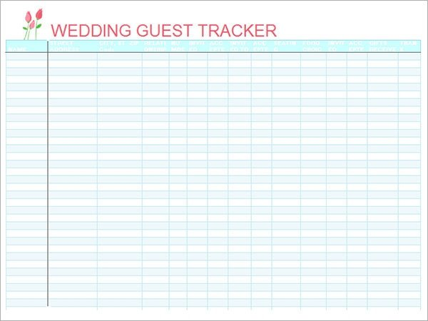 Wedding Guest List Printable 17 Wedding Guest List Templates Pdf Word Excel