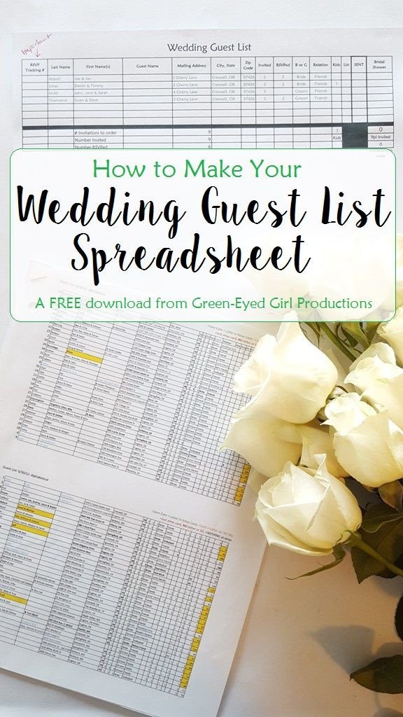 Wedding Guest List Template Excel How to Make Your Wedding Guest List Spreadsheet Free