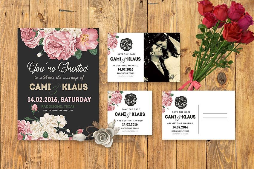 Wedding Invitation Templates Photoshop 50 Elegantes Plantillas Para Invitaciones De Boda