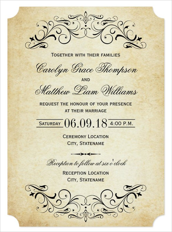 Wedding Invitation Templates Word 28 Wedding Invitation Wording Templates – Free Sample