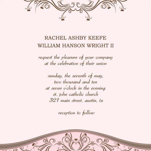 Wedding Invitation Templates Word 6 Wedding Invitation Templates Excel Pdf formats