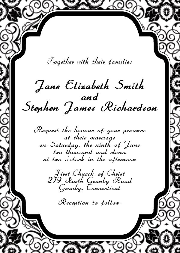 Wedding Invitation Templates Word Free Printable Wedding Invitation Templates