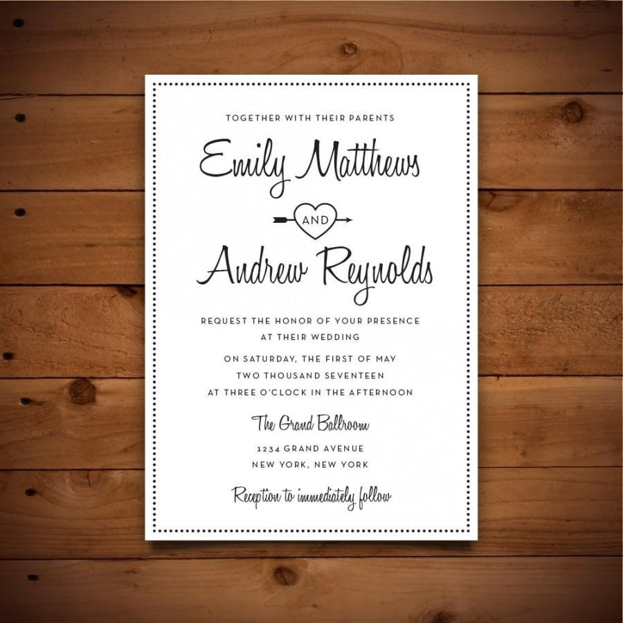 Wedding Invitation Templates Word Printable Vintage Style Wedding Invitation Template Dark