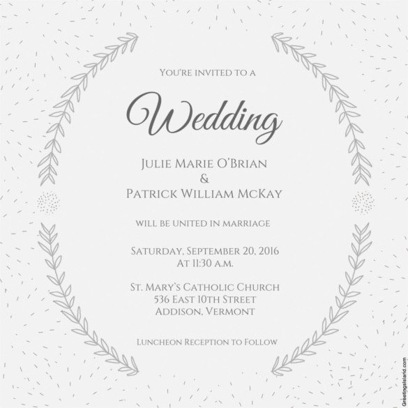 Wedding Invitation Templates Word Wedding Invitation Template 71 Free Printable Word Pdf