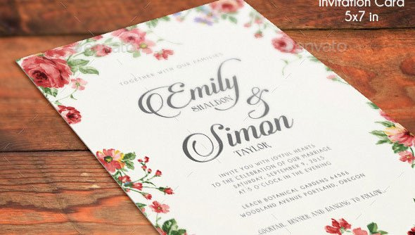Wedding Invitations Photoshop Template 21 Elegant Psd Wedding Invitation Templates
