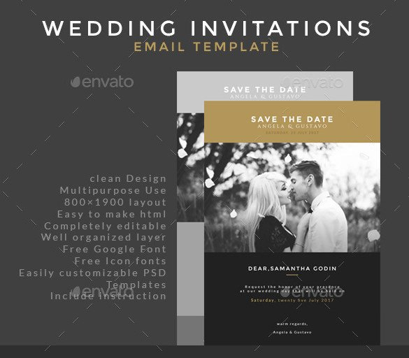 Wedding Invitations Photoshop Template 30 Business Email Invitation Templates Psd Vector Eps