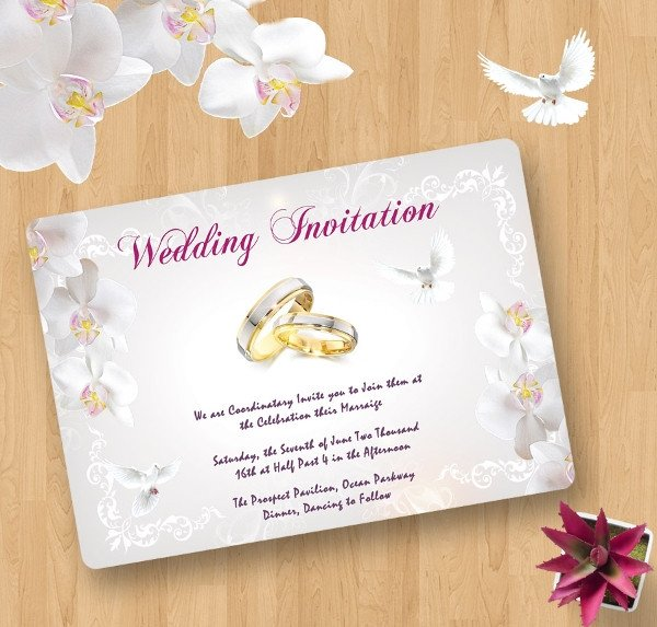 Wedding Invitations Photoshop Template 40 Wedding Invitation Template Free Psd Vector Ai Eps