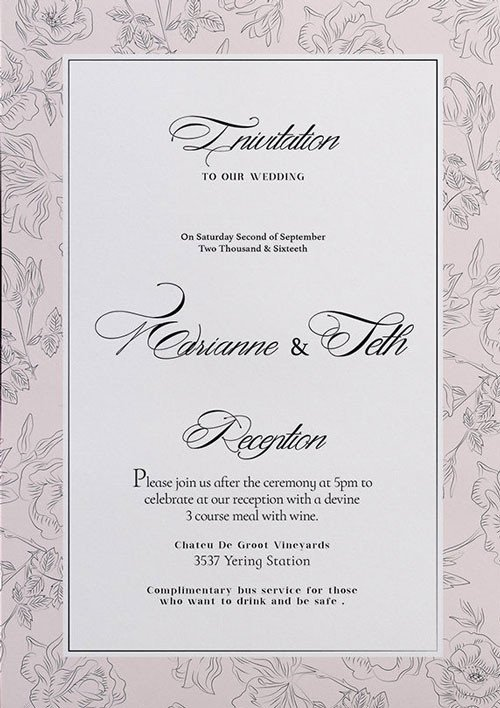 Wedding Invitations Photoshop Template Free Wedding Invitation Flyer Template Download for