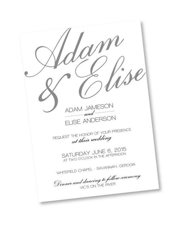 Wedding Invitations Photoshop Template Rustic Calligraphy Shop Template Wedding Invitation