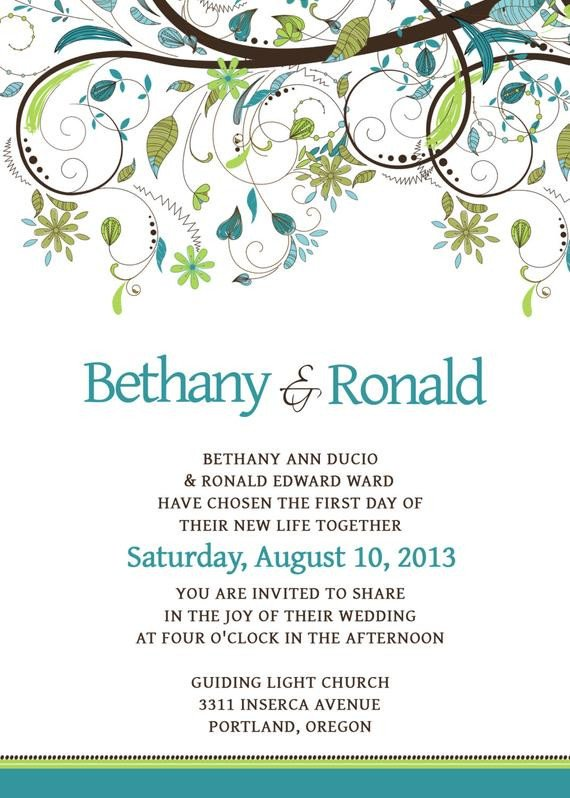 Wedding Invitations Photoshop Template Wedding Invitation Template Set Psd by Scripturewallart On