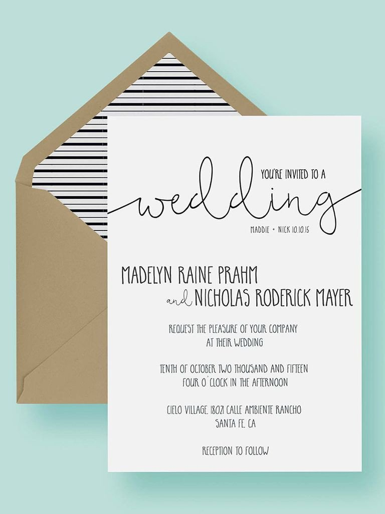 Wedding Invite Wording Template 16 Printable Wedding Invitation Templates You Can Diy
