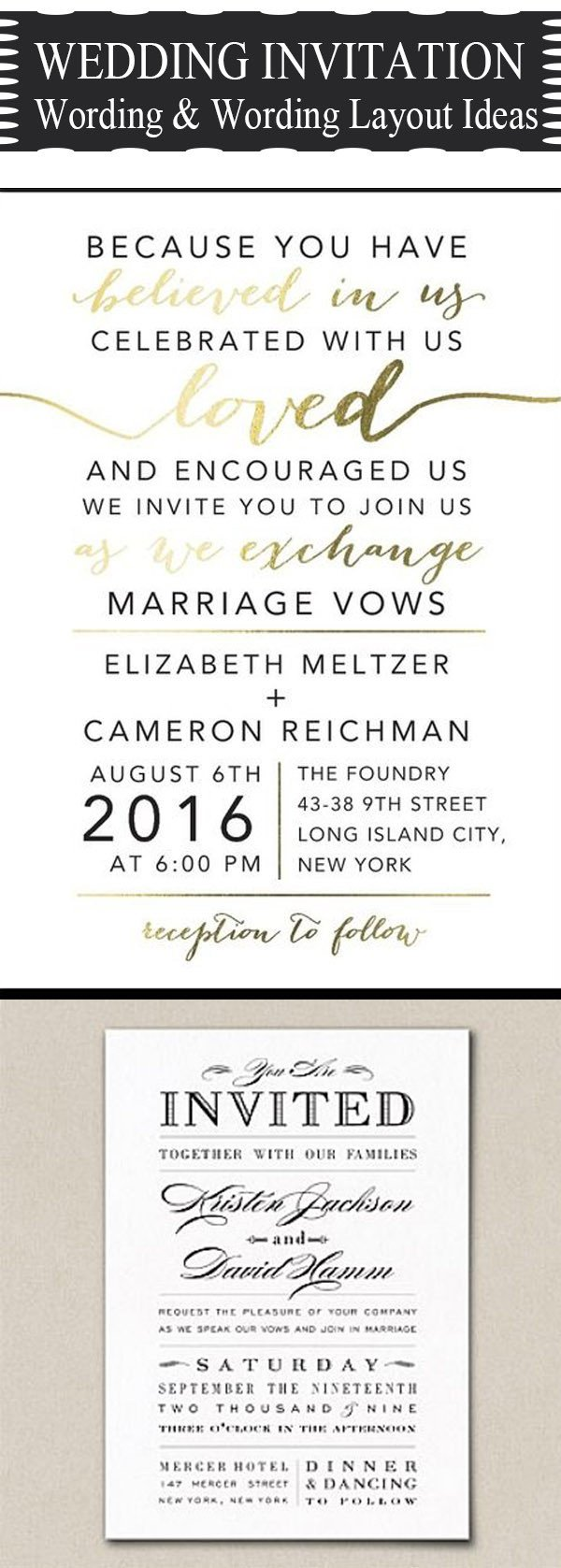 Wedding Invite Wording Template 20 Popular Wedding Invitation Wording & Diy Templates